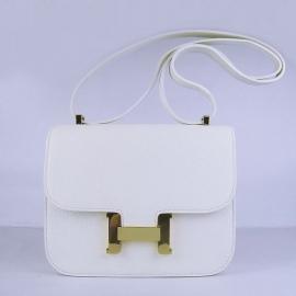 エルメス コピー バッグ コンスタンスミニボックスカーフ ホワイト金具ゴールド hermes20011