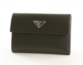 財布 コピー プラダ サフィアーノ ORO 二つ折財布 ブラック M510A