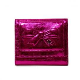 (CHANEL)シャネル コピー 激安 メタリックリボン財布 フューシャーピンク A46895
