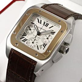 【最高品質】CARTIERカルティエコピー 時計 サントス100クロノ W20091X7