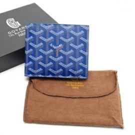 新品ゴヤールコピール2枚折財布 PVCコーティングキャンバスと牛革 gy004