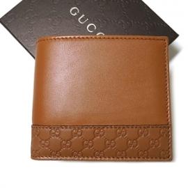 グッチコピー ミストラル マイクログッチシマレザートリム二つ折財布(ライトブラウン) 256418 A8WQN 7614