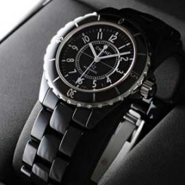 シャネルコピー N級品J12ブラックセラミック ブラックダイアル セラミックブレスレッ H0685