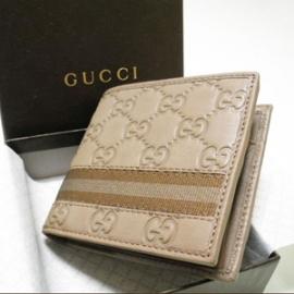 グッチコピー 二つ折り財布 型押しカーフ×キャンバス 138073 A0VBR 8580