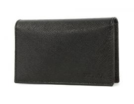 財布 コピー プラダ SAFFIANO カードケース ブラック 2M1122