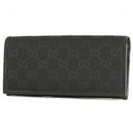 (GUCCI)グッチコピー財布 GG柄 長財布 ブラック 118377FVE1R1000
