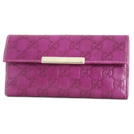 (GUCCI)グッチコピー財布 シマ長財布 バイオレット 112715A0V1G5216