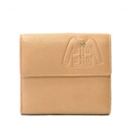 (CHANEL)シャネル コピー激安財布 スーツデザイン 二つ折財布 カーフ ピンク A48687