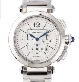 コピー腕時計 カルティエ パシャ 42mm クロノグラフ Pasha 42mm Automatic Chronograph W31085M7