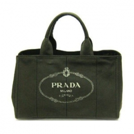 (PRADA)プラダコピー激安 トートバッグ ロゴ キャンバス カーキB1872B-3
