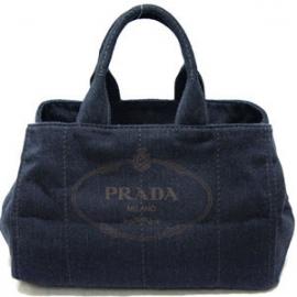 (PRADA)プラダ コピー激安 トートバッグ デニム ダークグレー B1872B-4