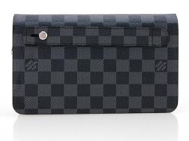 ルイヴィトンコピー黒新品ダブル財布の取っ手バッグ2012