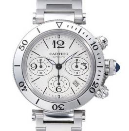 コピー腕時計 カルティエ パシャ シータイマー クロノグラフ PASHA SEA-TIMER CHRONOGRAPH W31089M7