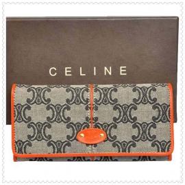 財布 コピー (CELINE)セリーヌロゴ模様 グレー/オレンジ celine040