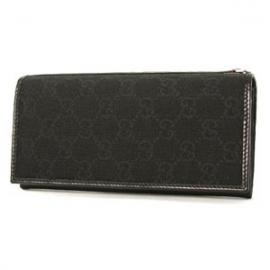 (GUCCI)グッチコピー財布 ウェビングライン GG柄 長財布 ブラック 135590F4F2N1060