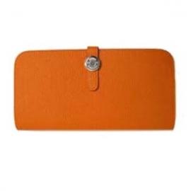 財布 コピー エルメスドゴンロング トゴ/オレンジ HER-033