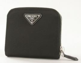 財布 コピー プラダ テスート 二つ折財布 ブラック 1M0522