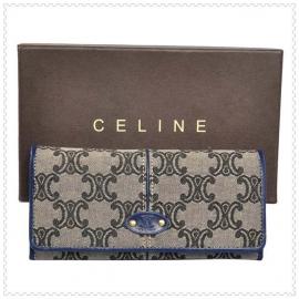財布 コピー (CELINE)セリーヌロゴ模様 グレー/ブルー celine044