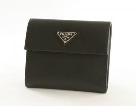 財布 コピー プラダ サフィアーノ ORO 二つ折財布 ブラック M170A