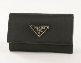 財布 コピー プラダ テスート キーケース ブラック 1M0222