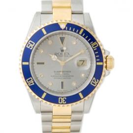激安時計ロレックス サブマリーナデイト グレー 16613SG
