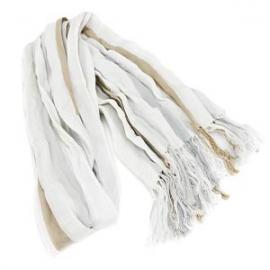 グッチコピー ストール ホワイト×ベージュ×ストライプ スカーフ マフラー メンズ GUCCI 2401-2