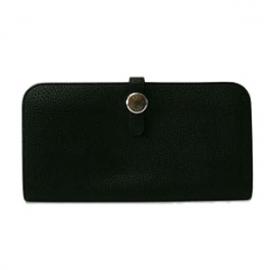 財布 コピー エルメスドゴンロング 黒 トゴ  HER-007