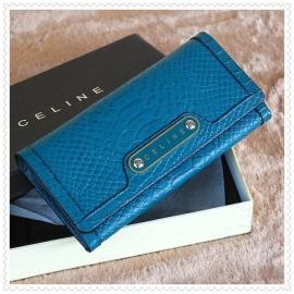 財布 コピー (CELINE)セリーヌヘビ柄 スカイブルー celine049
