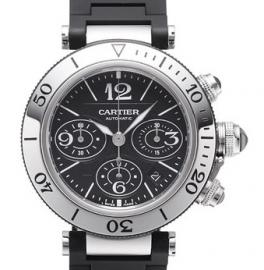 コピー腕時計 カルティエ パシャ シータイマー クロノグラフ Pasha Sea-Timer Chronograph W31088U2