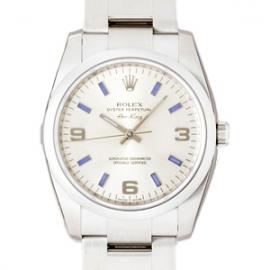ロレックス コピー腕時計 エアーキング シルバー3・6・9ブルーバー 114200