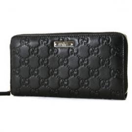 (GUCCI)グッチコピー財布 シマ 長財布 ブラック 112724A0V1G1000