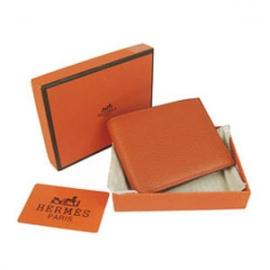 財布 コピー エルメスブランド コンパクト 二つ折り財布トリヨンクレマンス オレンジHR15343