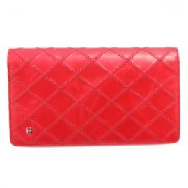 財布 コピー シャネル 二つ折り  ココマーク キルティング ビコローレ レザー レディース レッド A46356