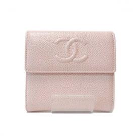 (CHANEL)シャネル コピー激安財布 CCマーク二つ折り財布 ベビーピンク A48650